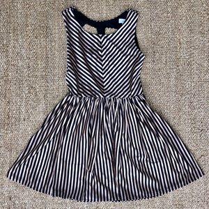 Cameo Copper and Black Striped Cutout Dress